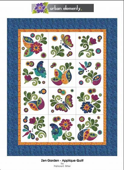 Quilt Applique Zen Garden Pattern Patterns Quilts