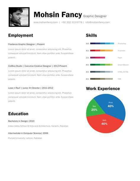 page resume template    page resume