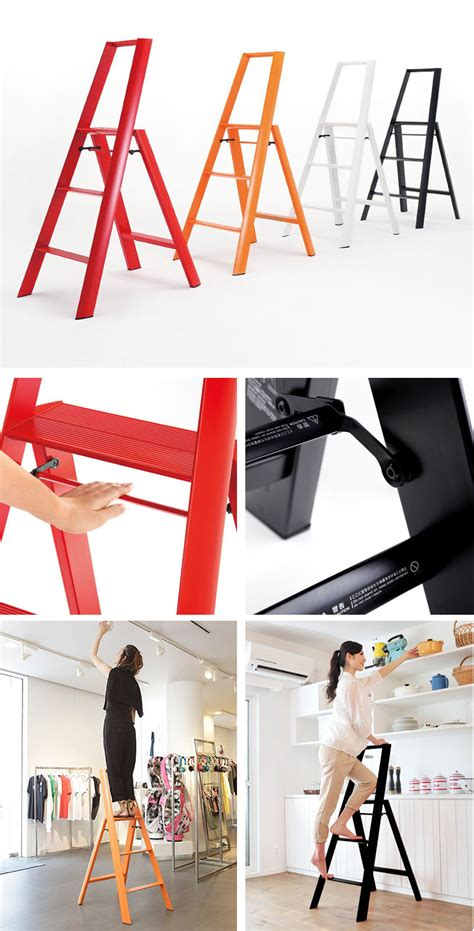 folding modern step stool ladder  aluminum novacom