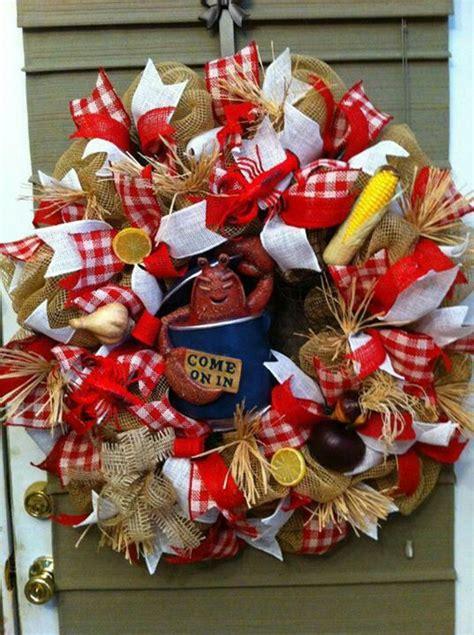 crawfish wreath beautiful wreaths pinterest be cool