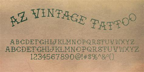 az vintage tattoo font  artist  design fontspring