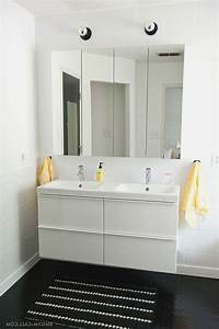 Ikea Waschtisch Godmorgon : ikea high gloss white master bathroom with ikea godmorgon mirrored medicine cabinets and hd ~ Orissabook.com Haus und Dekorationen