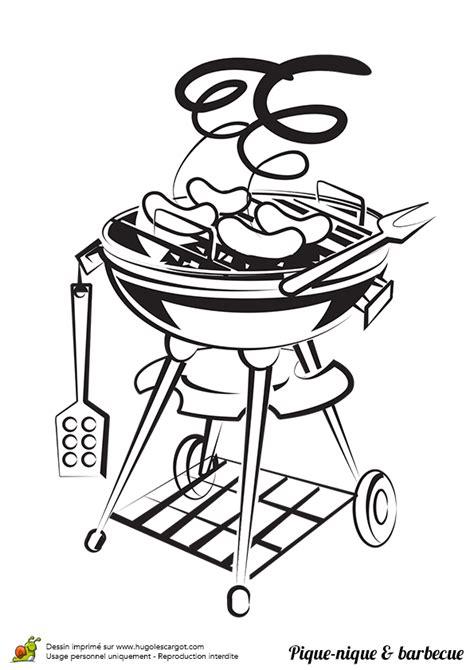 plein de jeux de cuisine coloriage pique nique barbecue plein air sur hugolescargot