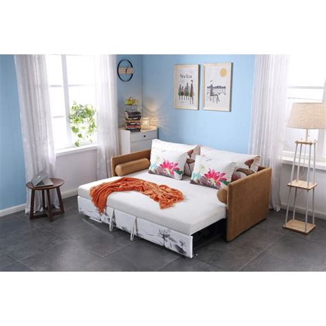 Durable Sofa Bed by Sofa Bed With 4 Pillows Folding Iron Durable Frame