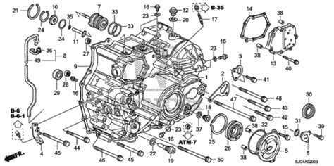 Honda Pilot Engine Diagram Transmission by At Transmission For 2007 Honda Ridgeline Sedan