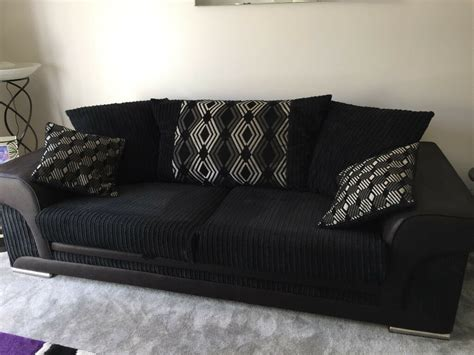 scs settees scs modena 3 seater sofa settee in black and grey 18