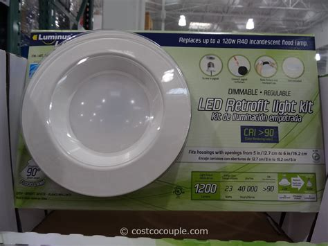 costco led can lights luminus 23w dimmable led retrofit kit