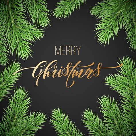 Merry Christmas Trendy Golden Quote Calligraphy Font On