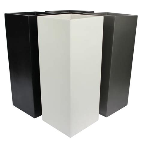 Black Square Planter Box by Root And Stock Belvedere Square Cube Planter Box Black