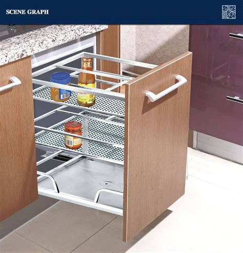 pull out baskets for kitchen cabinets modern stainless steel kitchen drawer basket 201 buy