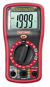 Craftsman Digital Multimeter With Manual Ranging  U0026 Non