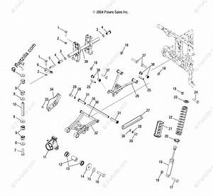 Polaris Atv 2005 Oem Parts Diagram For Rear Suspension   As