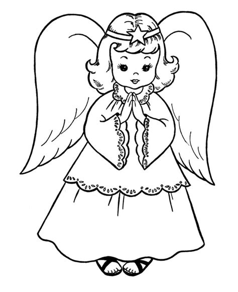 angel clipart coloring page pencil   color angel