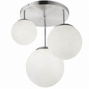 Lampe Mit Mehreren Lampenschirmen : design deckenlampe mit drei glaskugel lampenschirmen joel lampen m bel innenleuchten ~ Markanthonyermac.com Haus und Dekorationen