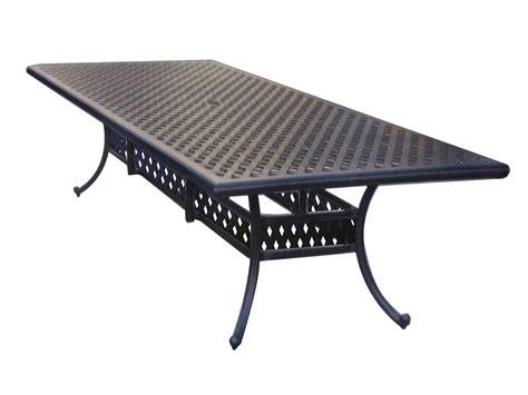 rectangular patio dining table darlee outdoor living series 30 cast aluminum antique