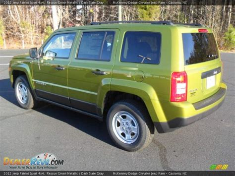 dark green jeep patriot 2012 jeep patriot sport 4x4 rescue green metallic dark