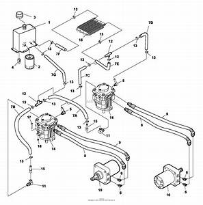 Bunton  Bobcat  Ryan 742214a 2200es 20hp B U0026s W  52 Side Discharge Parts Diagram For Hydraulics
