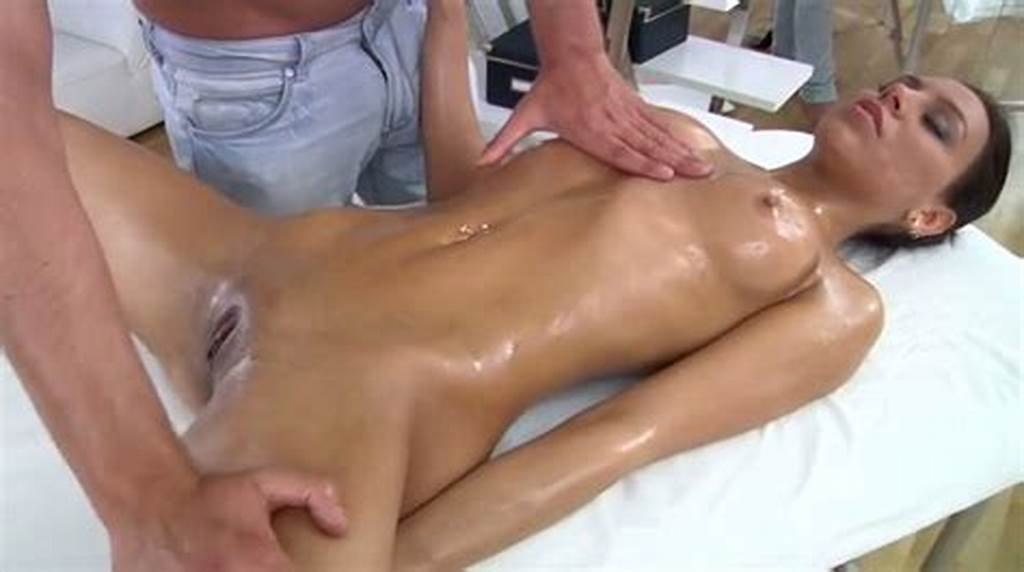 #Freaky #Guy #Rubs #Clit #Of #Sexy #Black #Haired #Bitch #In #Massage