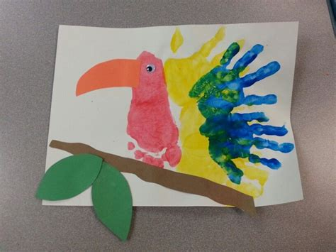 preschool jungle week handprint and footprint bird teap 112 | 2e7957f2db794b28215ec77a8241c898