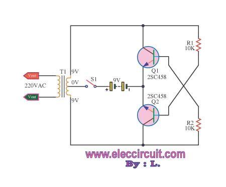 high volt shock by transistor 2sc458 circuit diagram world