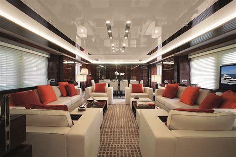 The luxury motor yacht Domani Main salon — Yacht Charter ...