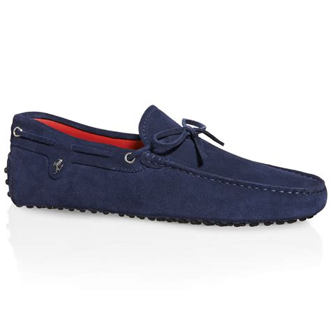 tods  ferrari gommino driving shoes  suede  blue
