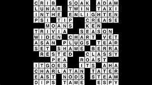 Crossword Puzzle Answers  September 26  2018