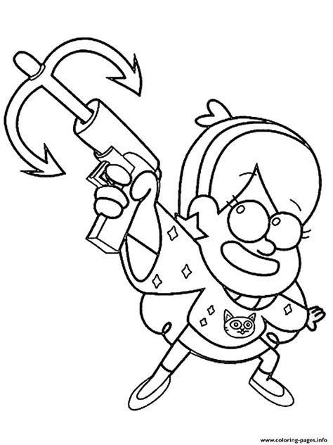 gravity falls mabel   tool coloring pages printable