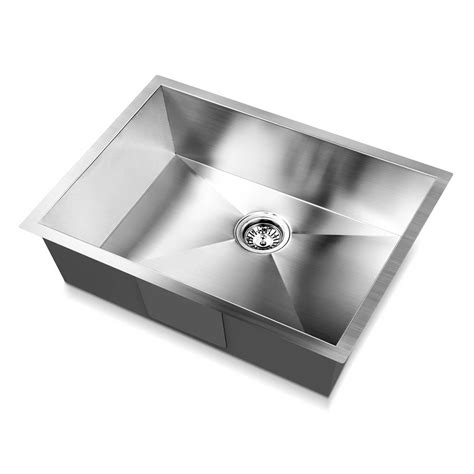 cheap kitchen sinks melbourne cefito 600x450mm handmade stainless steel topmount 5323