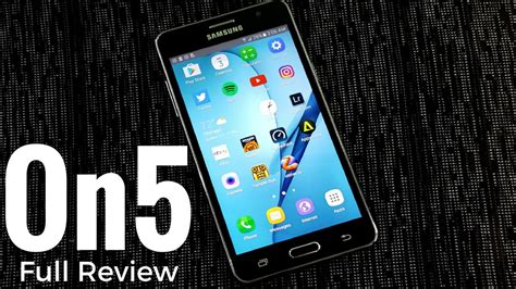 samsung galaxy on5 full review youtube