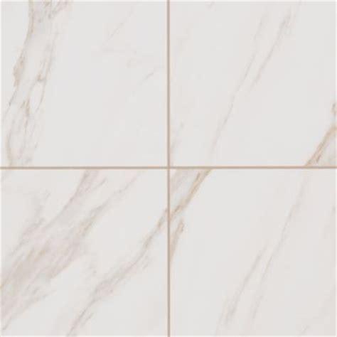 """Mohawk Bertolino Bianco Cararra 12? x 12"""" Glazed Porcelain"""