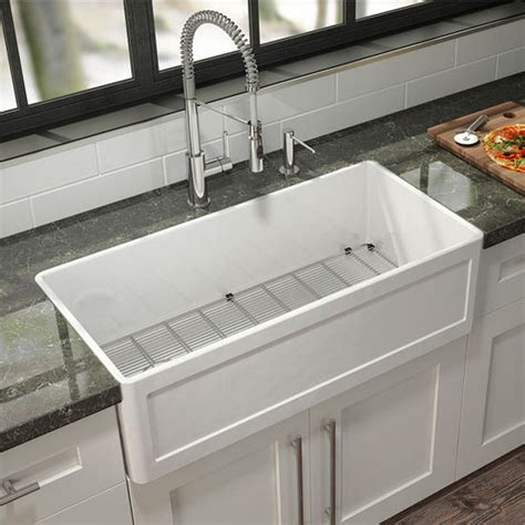 julien kitchen sink fira collection single undermount fireclay kitchen sink w 2060