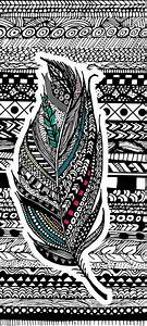 Aztec Feather. Art Print by GoldenFoxDesigns