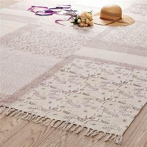 Maison Du Monde Tapis Enfant : tapis poils courts en coton rose 160 x 230 cm menara ~ Teatrodelosmanantiales.com Idées de Décoration
