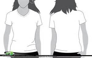 V-Neck T-Shirt Template