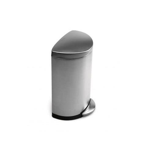 poubelle de cuisine 30l poubelle à pédale 30l demi lune acier brossé simplehuman