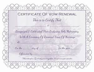 marriage vow renewal certificate free printable all With vow renewal certificate template
