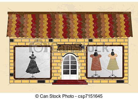 beautiful boutique  clothes   shop window vector