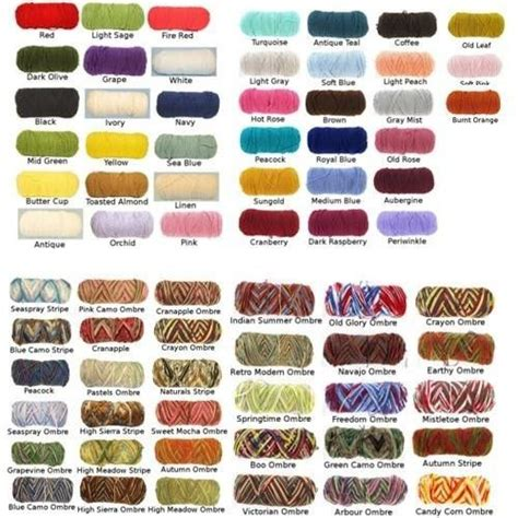 yarn color chart the 25 best yarn colors ideas on