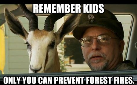 Only You Can Prevent Forest Fires Meme - remember kids only you can prevent forest fires noooope chuck testa quickmeme