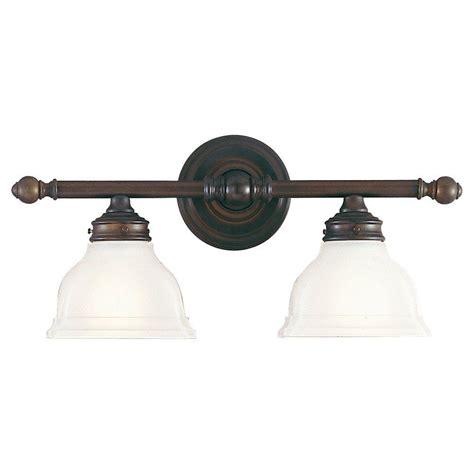 bronze vanity light feiss new 2 light rubbed bronze vanity light
