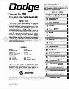 1973 Dodge Repair Shop Manual Reprint Challenger Charger