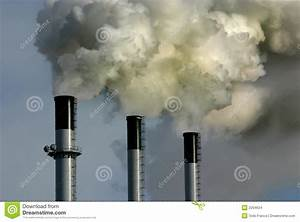 Coal Plant Smoke Stacks Stock Photo  Image Of Truth  Green