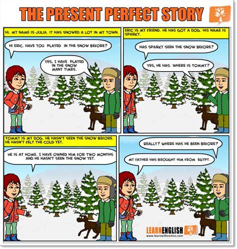 present perfect story presentes
