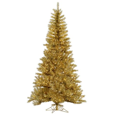 gold silver tinsel christmas tree vck4550