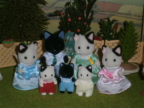 Sylvanian Families Cat Family by The Marlowe Tuxedo Cat Family Sylvanian Families
