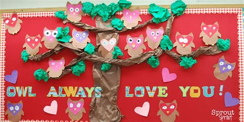 s day bulletin board ideas for the classroom 185 | owl always love you valentines day bulletin board