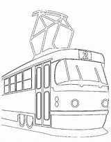 Tramway Metro Coloring Pages Template Coloriages sketch template