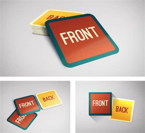 square business card mockup  behance