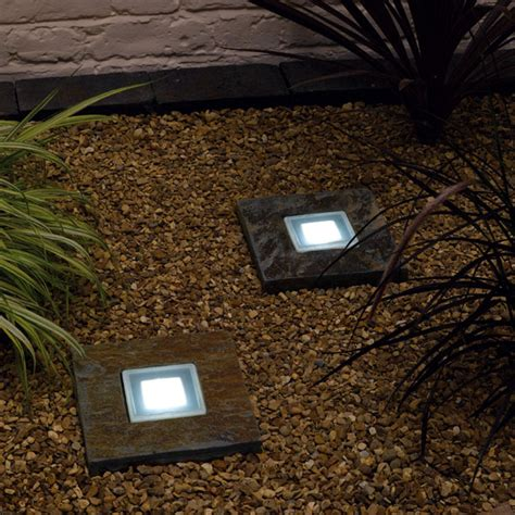 solar powered slate step lights envirogadget